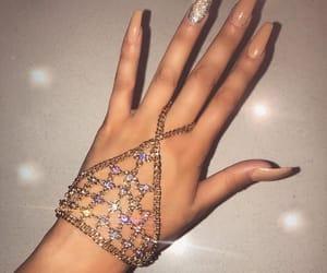 fashion, nails, and diamond image