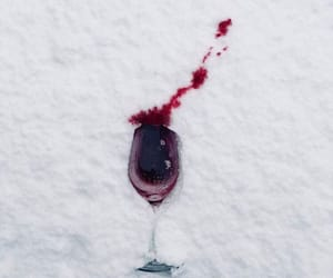 wine, snow, and glass image