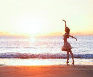 ballet, beach, and girl image