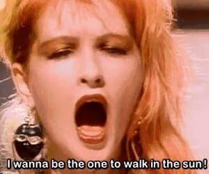 gif, girls just wanna have fun, and Cyndi Lauper image