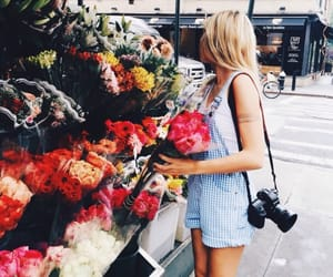 blondie, style, and flowers image