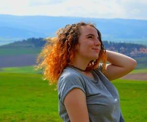 curly hair, orange hair, and girl image