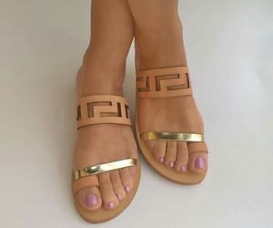 fashion, nails, and sandals image