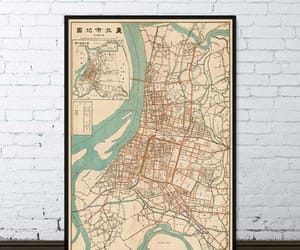 print, etsy, and vintage map image