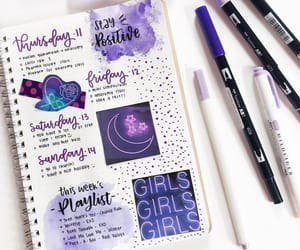bullet journal, college, and motivation image