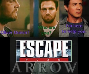 arrow, green arrow, and slyvester stallone image