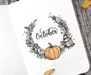 october, bullet journal, and autumn image
