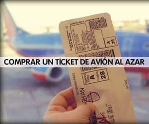 ticket, comprar, and viajar image