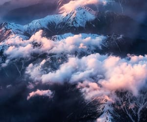 clouds, mountains, and sky image