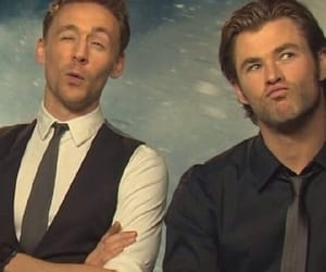 tom hiddleston, chris hemsworth, and thor image