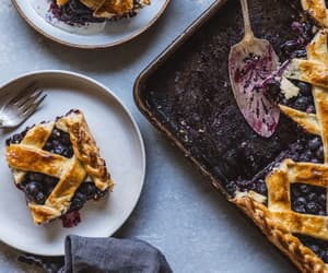 blueberries, cake, and delicious image