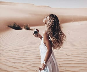 places, desert, and girl image