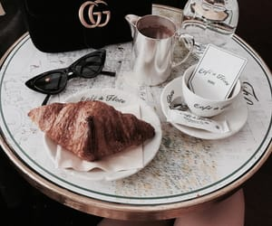breakfast, croissants, and gucci image