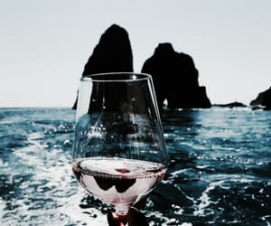 sea, wine, and summer image