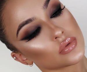 black, lipgloss, and shiny image
