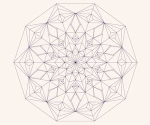 creative, geometric, and mandala image