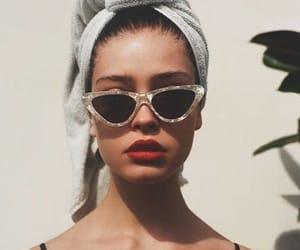 sunglasses, girl, and vintage image