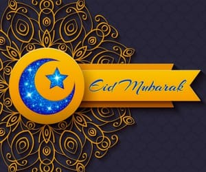 eid mubarak, greetings, and images image