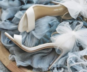 bridal, shoes, and bride image