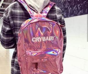 backpack, crybaby, and rosa image