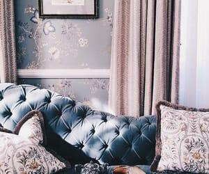 interior, blue, and decor image