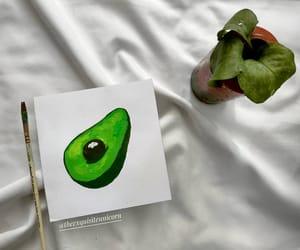 acrylic paint, aesthetic, and avocado image