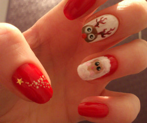 nails, christmas, and cute image
