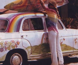70s and hippie image