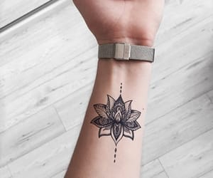 tattoo, art, and flowers image
