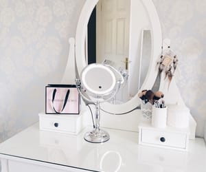bedroom, dressing table, and glam image
