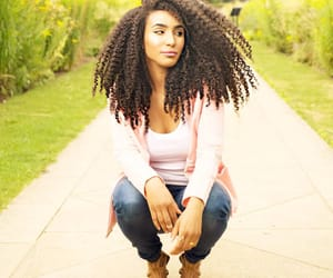 black women, curly hair, and long hair image