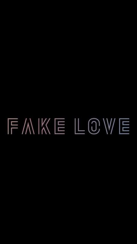 Fake Love Lockscreen Uploaded By フㄖ卂几几卂 On We Heart It