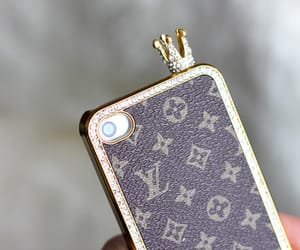 iphone, Louis Vuitton, and crown image