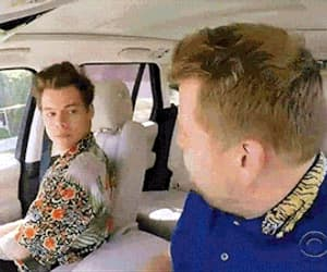 Harry Styles, carpool karaoke, and james corden image