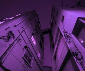 building, grunge, and purple image