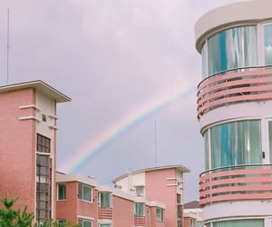 rainbow, aesthetic, and building image