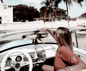 car, girl, and travel image