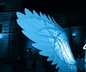 blue, angel, and wings image
