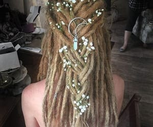 dreadlocks, dreads, and hippie image