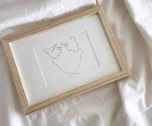 art, beige, and drawing image