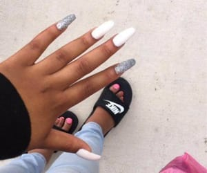 acrylic, nails, and jeans image