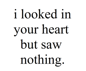 heart, nothing, and text image