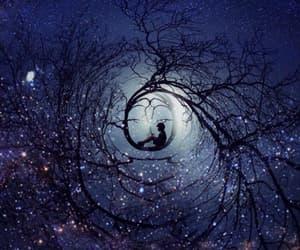 night, stars, and fantasy image