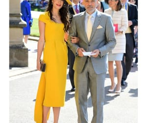 george clooney, royal wedding, and outfit image