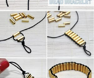 diy, bracelet, and gold image