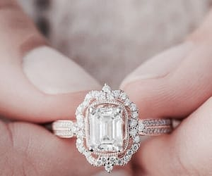 elegant, engagement ring, and proposal image