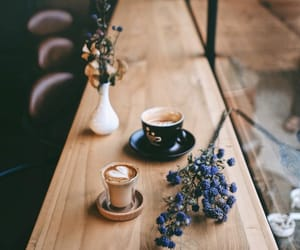 coffee, flowers, and beauty image