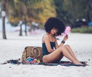 Afro, bathing suit, and big image