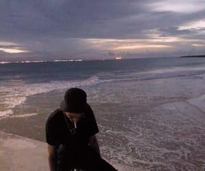 boy, sea, and grunge image
