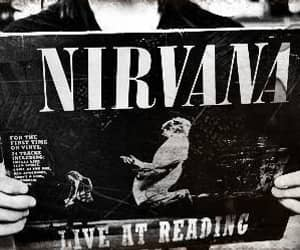 nirvana, black and white, and music image